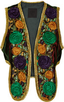 Anna Sui Embroidered velvet vest
