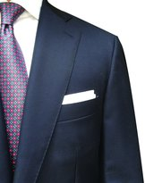 Hall Madden 100% Linen Handmade Pocket Square Handkerchief in Perfect Suit Size (3-PACK)