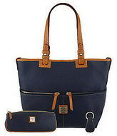 Dooney & Bourke As Is Pebble Leather Convertible Shopper