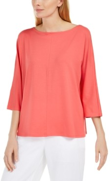 Eileen Fisher Boat-Neck Relaxed Top