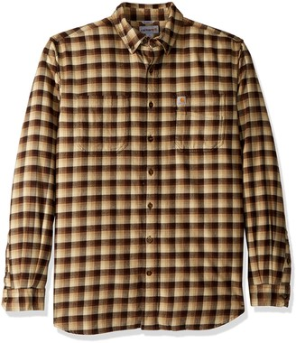 Carhartt Men's Big & Tall Rugged Flex Hamilton Plaid Shirt