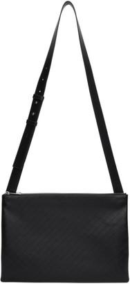 Bottega Veneta Black Embossed Messenger Bag