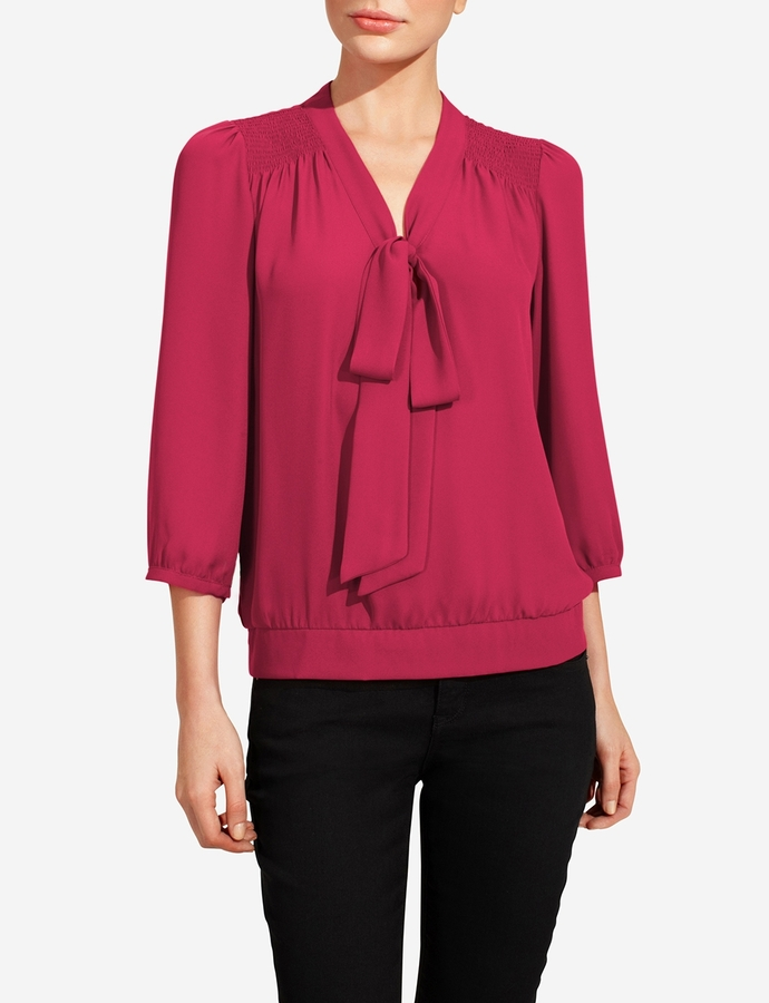 The Limited Tie Neck Peasant Blouse