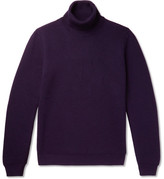 Altea Ribbed Wool Rollneck Sweater - Purple