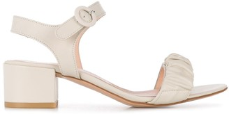 AGL Ruffle-Strap Block Heel Sandals
