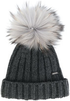 Woolrich pom pom beanie - women - Cashmere/Racoon Fur - S