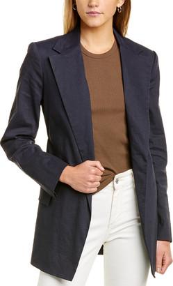 Theory Belted Linen-Blend Blazer