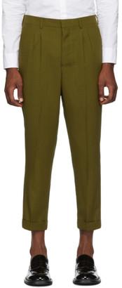 Ami Alexandre Mattiussi Green Pleated Trousers