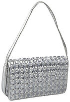 Coloriffics Light Silver Satin Handbag with Stones