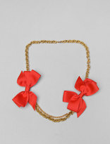 Double Bow Neck Short Necklace