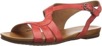 Miz Mooz Women's Ashe Flat Sandal red 10 M US