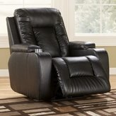 Signature Design by Ashley POWERED Black Leather (seating area only) Palo Recliner