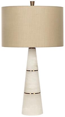 Bradburn Home Volterra Table Lamp - White Alabaster