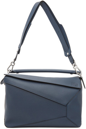 Loewe Blue Large Puzzle Edge Messenger Bag