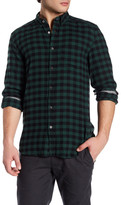 Gilded Age Check Print Long Sleeve Classic Tapered Fit Shirt