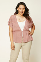 Forever 21 FOREVER 21+ Plus Size Self-Tie Waist Top