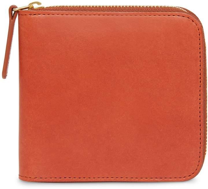 09ffe5400927 Vegetable Tanned Men's Zip Around Wallet - Brandy