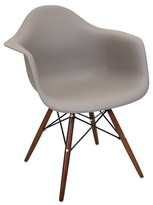Lumisource Neo Flair Mid Century Modern Espresso Wood Legged Dining Chair Polycarbonate/Cappuccino