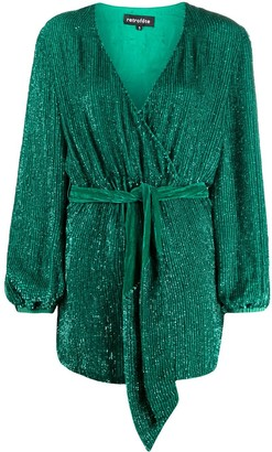 retrofete wrap style dress