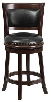 """Darby Home Co Layton Bar & Counter Swivel Stool Color: Cappuccino, Seat Height: Counter Stool (24"""" Seat Height)"""