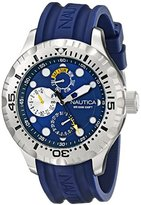 Nautica Men's N15105G BFD 100 Multi Analog Display Japanese Quartz Black Watch