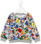 Kenzo travel tag print sweatshirt - kids - Cotton - 24 mth
