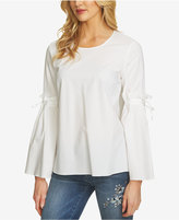 CeCe Cotton Bell-Sleeve Top
