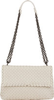 Bottega Veneta Women's Intrecciato Olimpia Small Shoulder Bag-CREAM