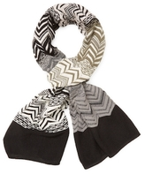 Missoni Banded Intarsia Long Scarf