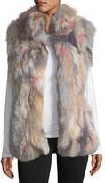 Jocelyn Stand-Collar Fur Vest