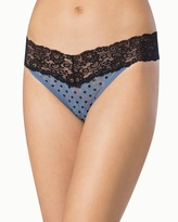 Soma Intimates Embraceable Allover Lace Thong