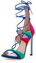 Stuart Weitzman Leg-Wrap Strappy Lace-Up Sandal