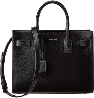 Saint Laurent Baby Sac De Jour Leather Tote