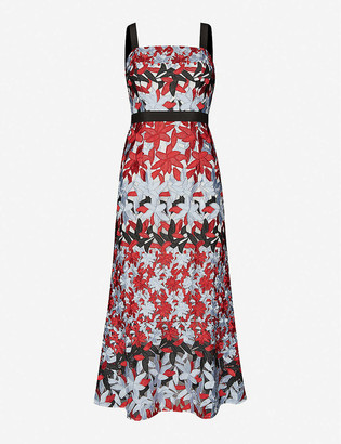 Ted Baker Floral-print lace midi dress