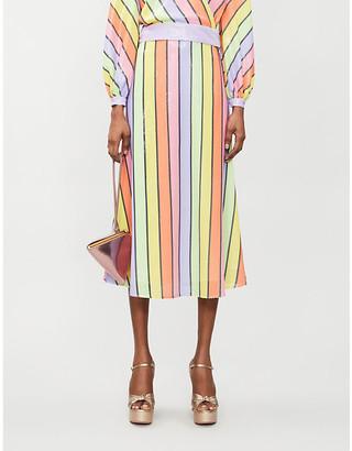 Olivia Rubin Penelope striped sequinned skirt