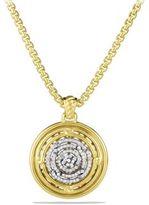 David Yurman Labyrinth Disc Pendant with Diamonds in Gold