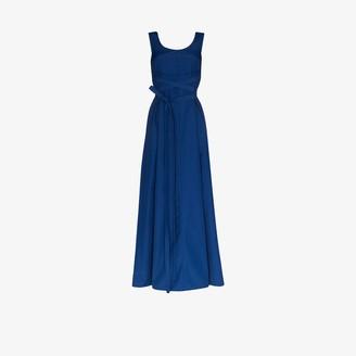 Plan C Belted Maxi Dress