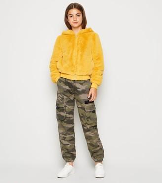 New Look Girls Camo Denim Utility Trousers