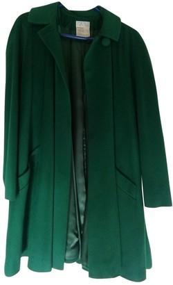 Emmanuelle Khanh Green Wool Coat for Women Vintage