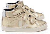 Veja Iridescent Leather Velcro Esplar Mid High-Top Trainers
