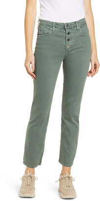 AG Jeans The Isabelle Button Fly High Waist Ankle Straight Leg Jeans