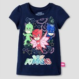 Toddler Girl's PJ Masks T-Shirt - Navy
