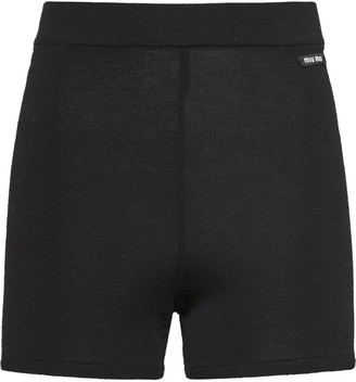 Miu Miu high-rise cycling style shorts