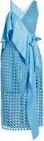 Diane von Furstenberg Diamond and Twig-lace asymmetric wrap dress