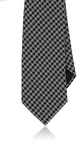 Giorgio Armani Men's Houndstooth Necktie-BLACK
