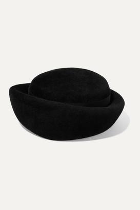 Gigi Burris Millinery Laura Grosgrain-trimmed Rabbit-felt Hat - Black