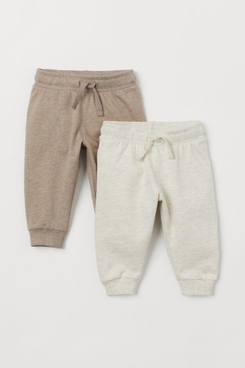 H&M 2-pack Cotton Joggers - Beige