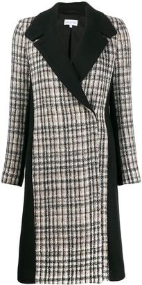 Patrizia Pepe plaid corduroy coat
