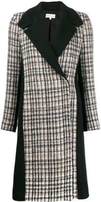 Patrizia Pepe Plaid Corduroy Coat