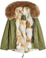 Mr & Mrs Italy Cotton Parka with Raccoon and Coyote Fur